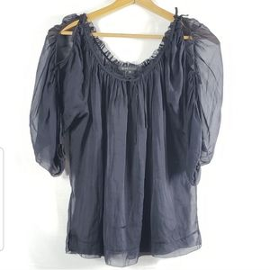 Marc Jacobs Sheer Silk Blouse